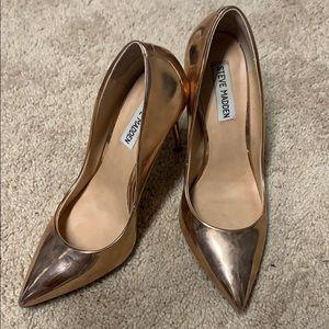 Rose Gold Steve Madden heels. Size 7. Barely worn